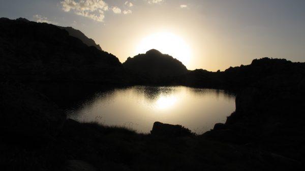 Bivouac et coucher de soleil
